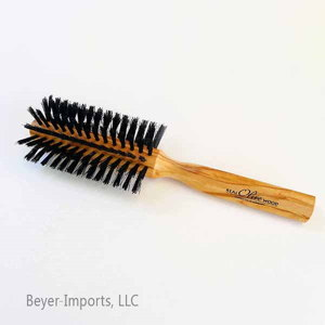Half-round Styling Brush w/ Boar Bristles, exquisite Olive wood #052-H-olive
