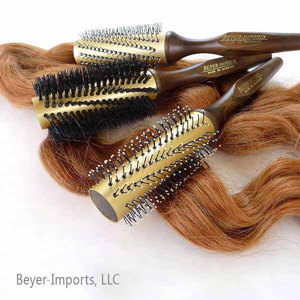 Gold-Plated Metal Tube Styling Brushes